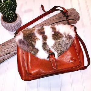 PATRICIA NASH   Italian Leather & Fur Purse